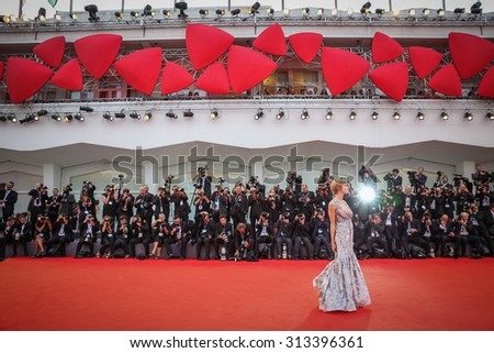 Venice, Italy - 04 September 2015: Francesca Inaudi attends a premiere for 'Black Mass' during the 72nd Venice Film Festival