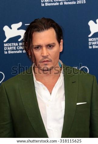 VENICE, ITALY - SEPTEMBER 04: Johnny Depp during the 72th Venice Film Festival 2015 in Venice, Italy - stock photo