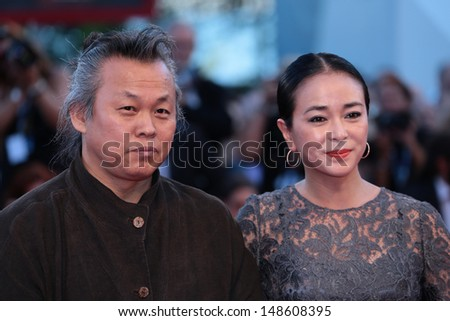 VENICE, ITALY - SEPTEMBER 08:  Kim Ki-Duk Duk and Cho Min-soo attends the Award Ceremony during the Venice Film Festival on September 08, 2012 in Venice, Italy