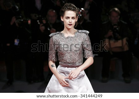 VENICE, ITALY - SEPTEMBER 5: Kristen Stewart attends the premiere of 'Equals' during the 72nd Venice Film Festival on September 5, 2015 in Venice, Italy. - stock photo
