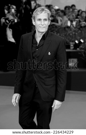 VENICE, ITALY - SEPTEMBER 05: Michael Bolton attends 'Good Kill' Premiere during the 71st Venice Film Festival on September 5, 2014 in Venice, Italy. - stock photo