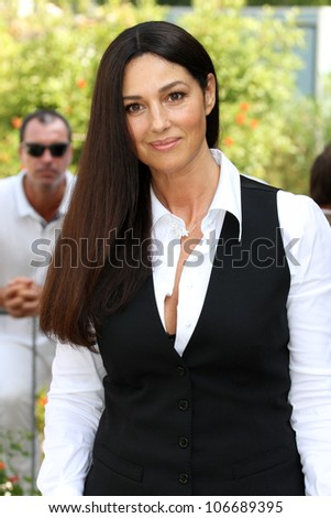 VENICE, ITALY - SEPTEMBER 03: Monica Bellucci during the 68th Venice Film Festival on September 03, 2011 in Venice, Italy. - stock photo