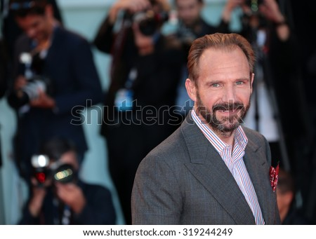 VENICE, ITALY - SEPTEMBER 06: Ralph Fiennes during the 72th Venice Film Festival 2015 in Venice, Italy - stock photo