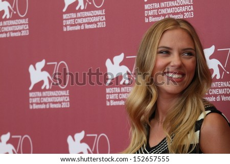 VENICE, ITALY - SEPTEMBER 03: Scarlett Johansson attends 'Under The Skin' Photocall during the 70th Venice International Film Festival at Palazzo del Casino on September 3, 2013 in Venice, Italy. - stock photo