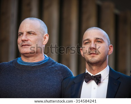 Venice, Italy - 06 September 2015: Shia Le Beouf and Dito Montiel attend a premiere for 'Man Down' during the 72nd Venice Film Festival