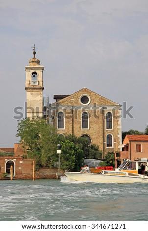 VENICE, ITALY - SEPTEMBER 04, 2012: The Santa Maria degli Angeli church, Murano, Italy - stock photo