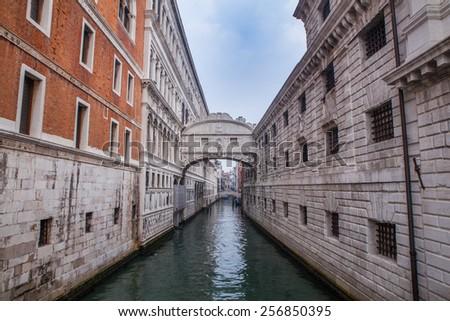 Venice, Italy. The Bridge of Sighs - stock photo