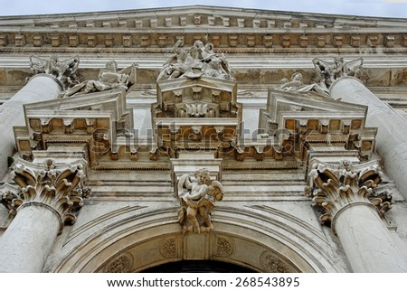 Venice, Italy, The Saint Stae church details - stock photo