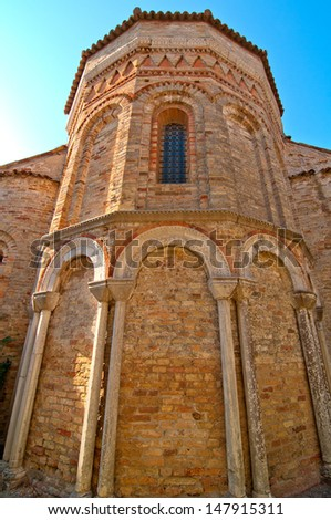 Venice Italy Torcello Cathedral of Santa Maria Assunta view - stock photo