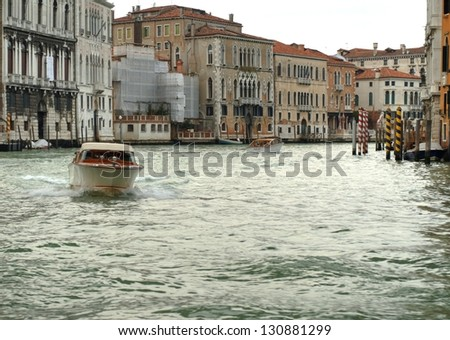 VENICE - JANUARY 15: view of Venice on January 15, 2013. Venice is a city in northeast Italy. More than 20 million tourists come to Venice annually.