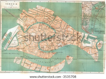 Venice Map Stock Images RoyaltyFree Images Vectors Shutterstock - Venice map image