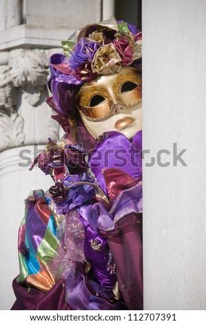 Venice mask - stock photo