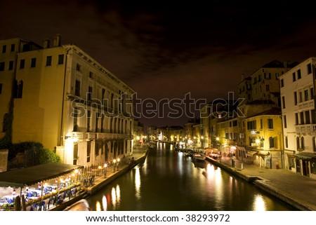 Venice on the night - stock photo