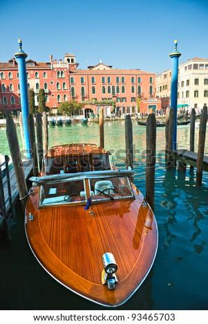 Venice, Palace on Grand Canal. - stock photo