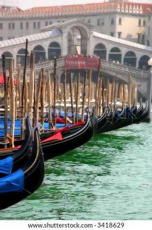 Venice. Rialto bridge. - stock photo