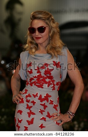 VENICE -SEP 1: Madonna at the 68th Venice International Film Festival in Venice, Italy on September 1, 2011. - stock photo