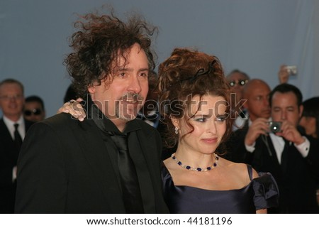 VENICE - SEPT 5:Helena Bonham Carter attends the Tim Burton Golden Lion For Lifetime Achievement Award ceremony in Venice during day 8 of the 64th Venice Film Festival on September 5, 2007 in Venice - stock photo