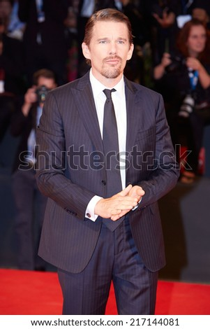 VENICE - SEPTEMBER 5: Ethan Hawke at 'Good Kill' premiere during the 71st Venice Film Festival on September 5, 2014 in Venice.