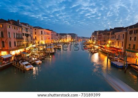 Venice, View from Rialto Bridge. Italy. - stock photo