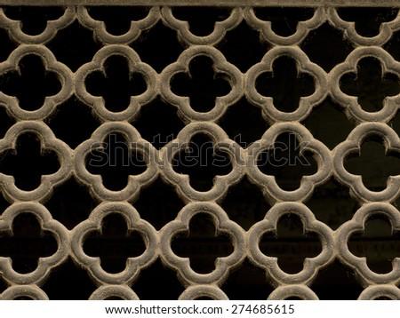 Ventilation grid - stock photo