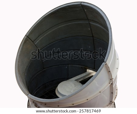 Ventilators of Sewage system of mall building isolated white background. - stock photo