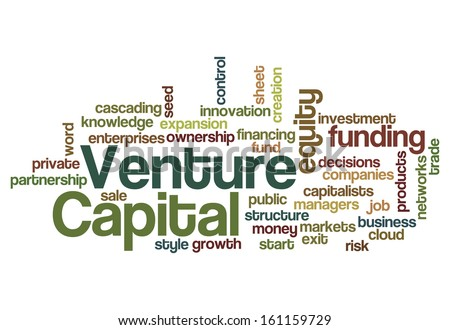 Venture capital equity funding investor concept background - stock photo