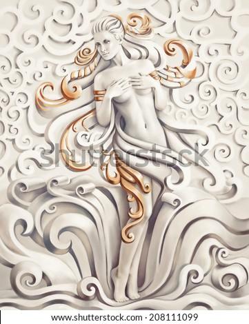 Venus.Fantasy computer graphic illustration - stock photo