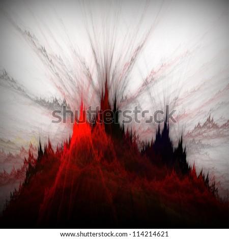 Venus fire rocks. Abstract illustration. - stock photo