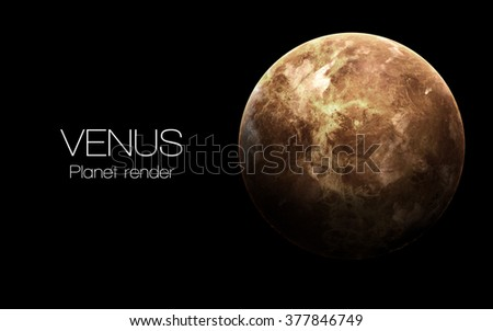 Venus - High resolution 3D images presents planets of the solar system. This image elements furnished by NASA. - stock photo