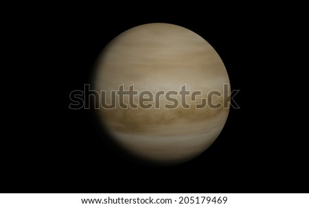 "Venus planet ""Elements of this image furnished by NASA"" - stock photo"