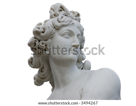 Venus statue isolated over white - stock photo