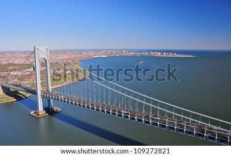 Verazano Bridge, New York - stock photo