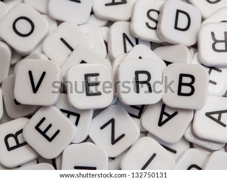Verb letters - stock photo