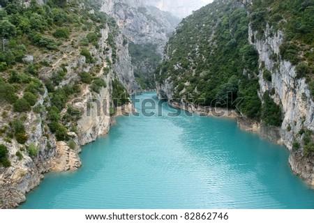 Verdon Gorge. - stock photo