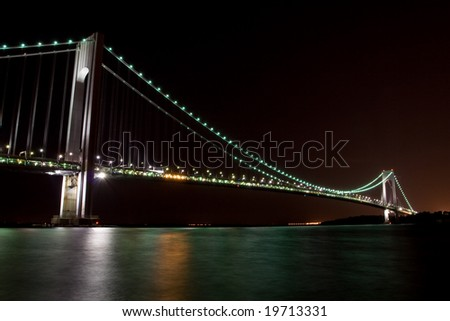 Verezano Bridge in New York Night