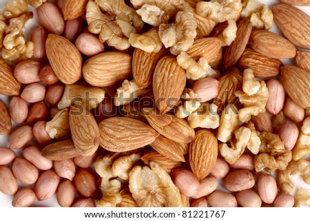 Verity Nuts Isolated on white background.
