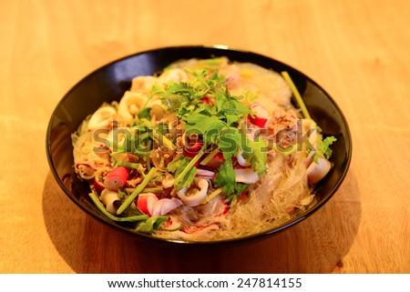 vermicelli salad,Thailand food noodle salad - stock photo