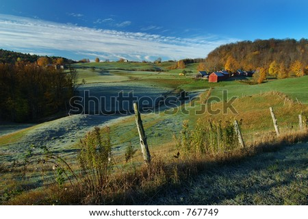 Vermont Farm - stock photo