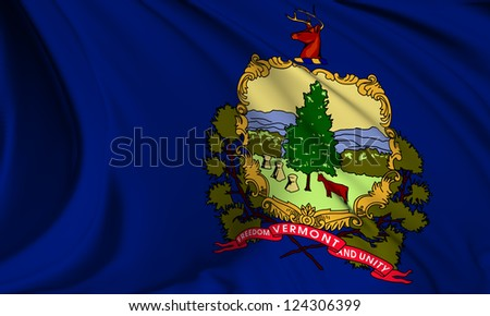 Vermont flag - USA state flags collection no_3 - stock photo