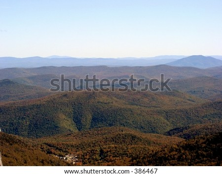 Vermont in the Fall - stock photo