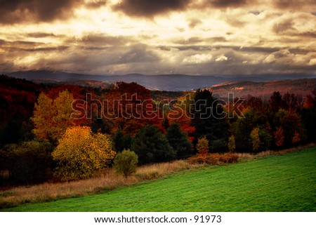 Vermont morning - stock photo