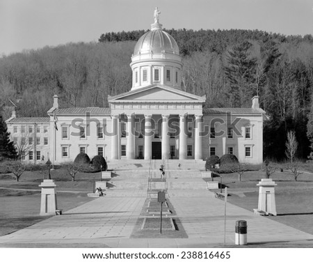 Vermont State House, Montpelier, Vermont. 1968 photo