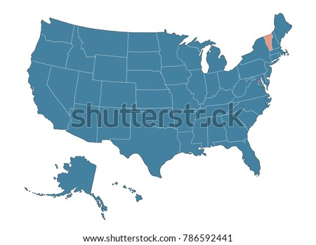 vermont state map of usa