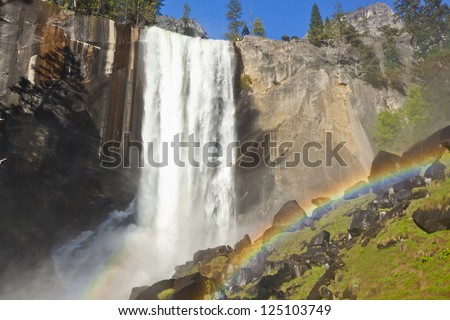 Vernal Falls and Rainbow of Yosemite National Park