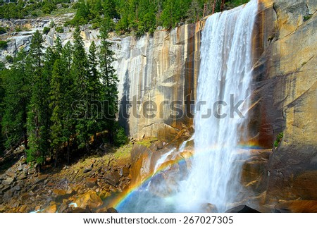 Vernal Falls, Yosemite National Park, California USA - stock photo