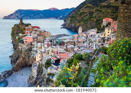 Vernazza, Cinque Terre National Park, Italy - stock photo