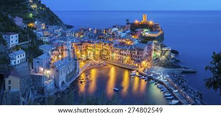 Vernazza, Cinque Terre, Tuscany, Italy  - stock photo