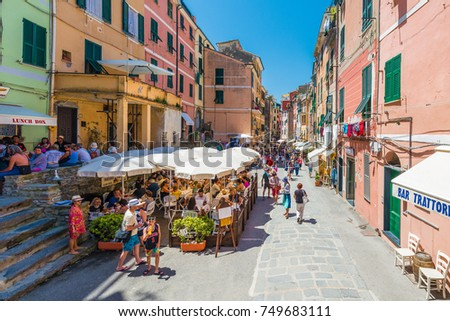 VERNAZZA, IT - JUNE 26, 2016: Vernazza village within Cinque Terre in Liguria Region, Northern Italy.