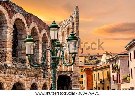 Verona. City landscape. - stock photo