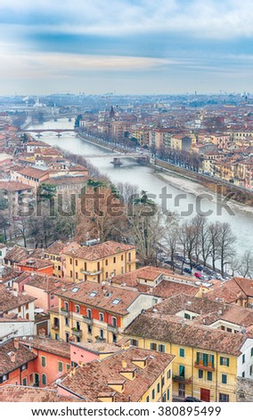 Verona, romantic winter in Italian city